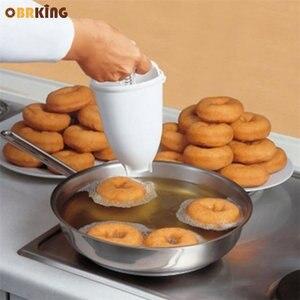 OBRKING пончик производитель плесень пончик торт форма для выпечки хлеба арабский вафельный диспенсер глубокая Жарка легко быстро Кондитерск...