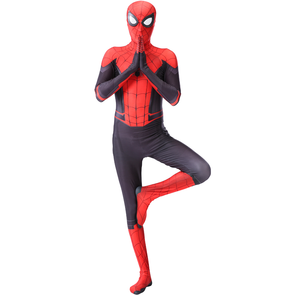 spider costueme man fantasia miles morales zentai costumes white Man For kids Cosplay Suit Red And Black Adult Men's boy costume 1