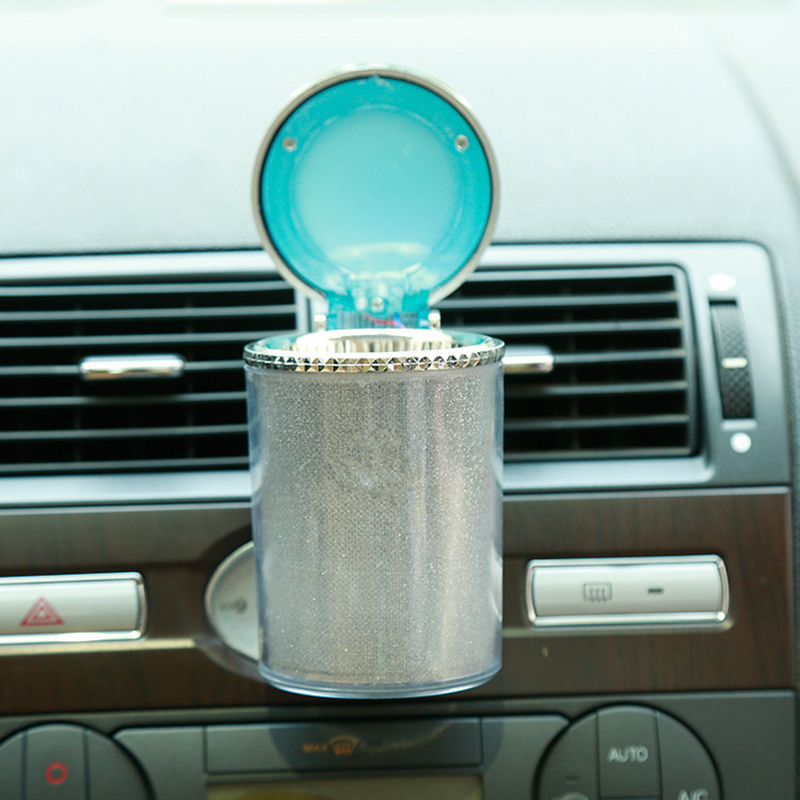 DOZZLOR 1Pcs Portable Novelty Light Car Ashtray Lamp LED Car Smokeless Lights Cup Holder Ventilator Lamp Novelty Ashtray Light