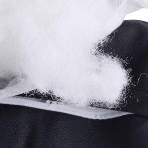 Image 5 - DWCX 2pcs Car Interior Black PU Soft Cotton Car Headrest Supplies Neck Rest Pillow Travel Accessories