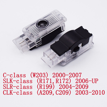 2pcs רכב דלת אור עבור מרצדס בנץ W203 C Class 2001 2007 C Class SLK CLK SLR R171 r199 A209 LED מנורת מקרן בברכה אור