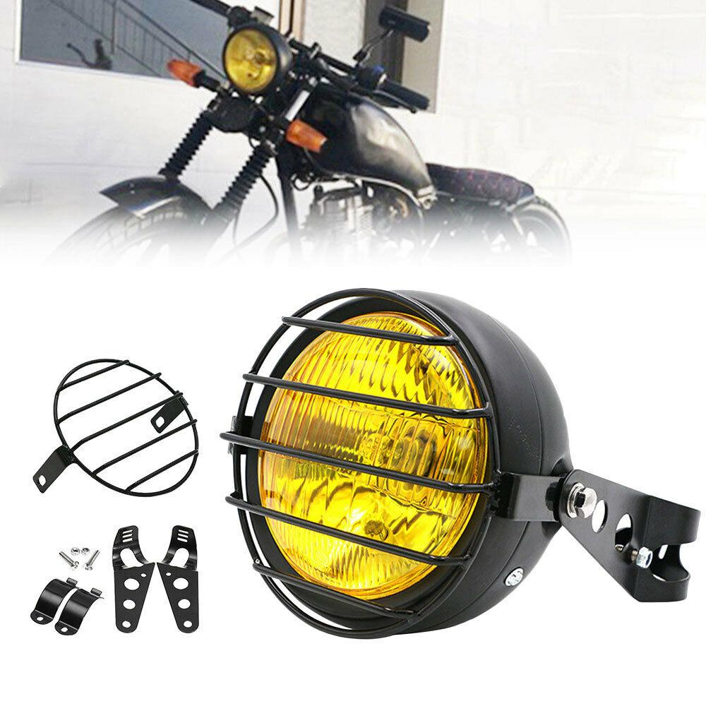 6.5inch Motorcycle Headlight Grill Side Mount Headlight Bracket Cover Motorcycle Turn Signal Light Lampshade For Farol Moto