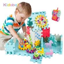 أطفال ثلاثية الأبعاد التروس كتلة DIY بها بنفسك لعبة الفطر مسمار البلاستيك ألعاب تعليمية الجمعية اللبنات عدة الطوب لعب للبنين بنات
