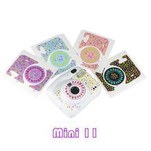 DIY ayçiçeği sevimli çizilmeye dayanıklı kayıpsız kamera koruma Sticker Instax Mini 11 Insta min11 kamera
