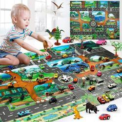 Žaidimų kilimėlis su miesto vaizdais