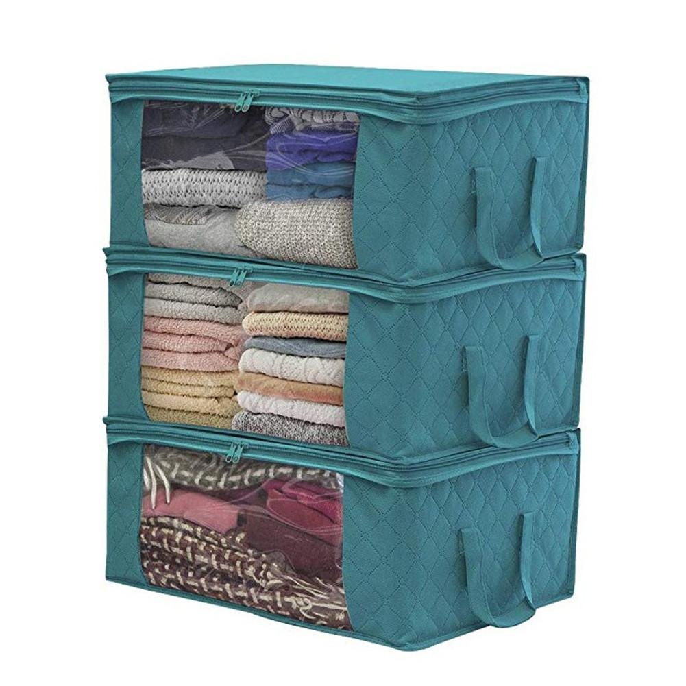 1 PCS Non-woven Foldable Storage Bag Organizers Dust-proof for Clothes Quilts Closets
