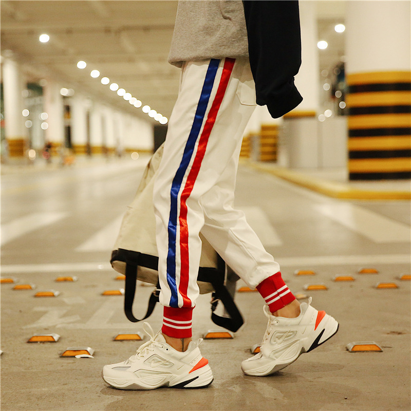 2018 Hot Selling Casual Pants Men's Hong Kong Style Literature And Art Harem Pants New Style Trend Skinny Pants Black And White