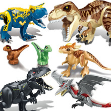 Jurassic World 2 Tyrannosaurus Rex Building Blocks Jurassic Dinosaur Figures Bricks Toys Collection Toy wiben jurassic tyrannosaurus rex t rex dinosaur toys action figure animal model collection learning
