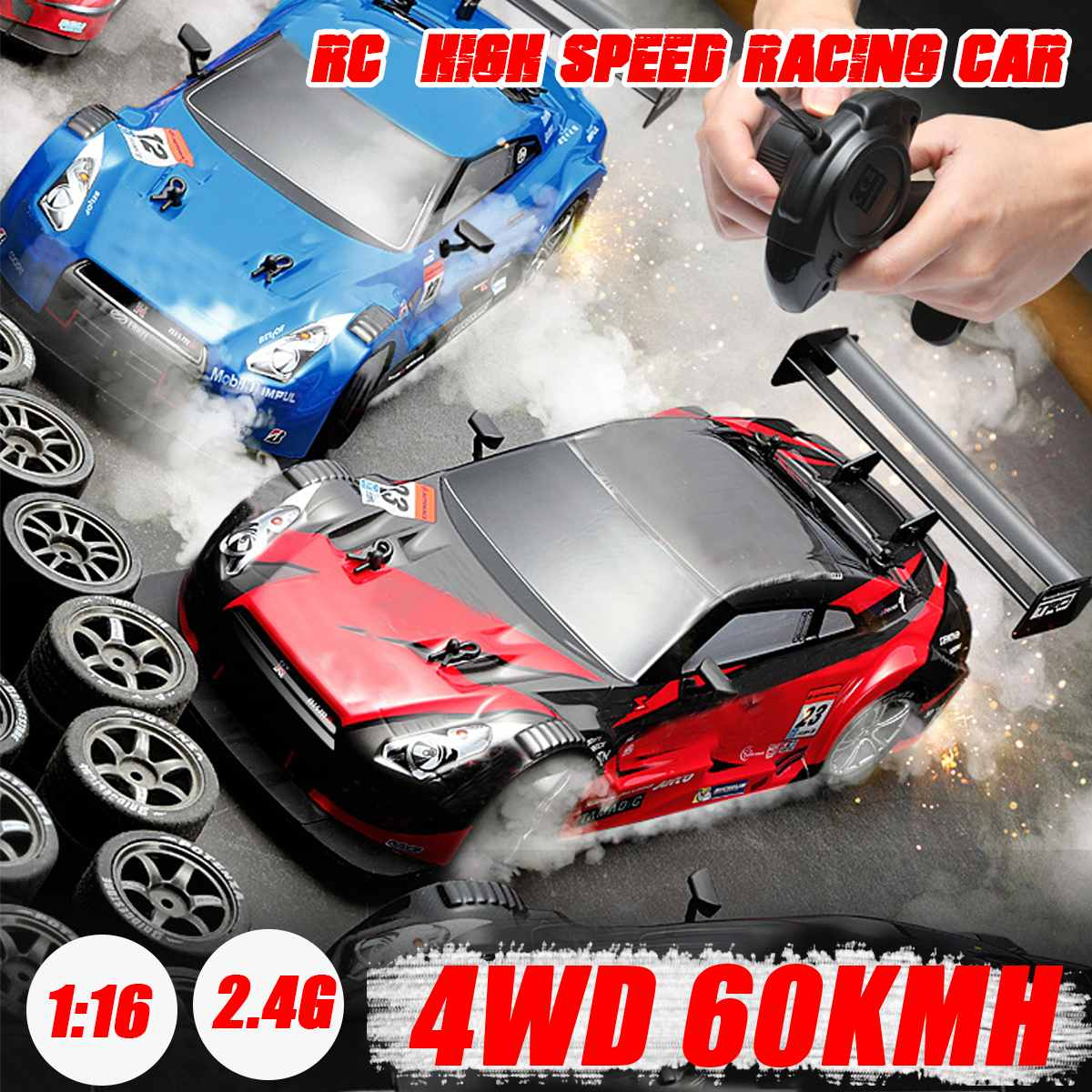 1/16 RC <font><b>Car</b></font> 2.4G Off Road 4WD Drift Racing <font><b>Car</b></font> Championship Vehicle Remote Control <font><b>Electronic</b></font> <font><b>Kids</b></font> Hobby Toys image