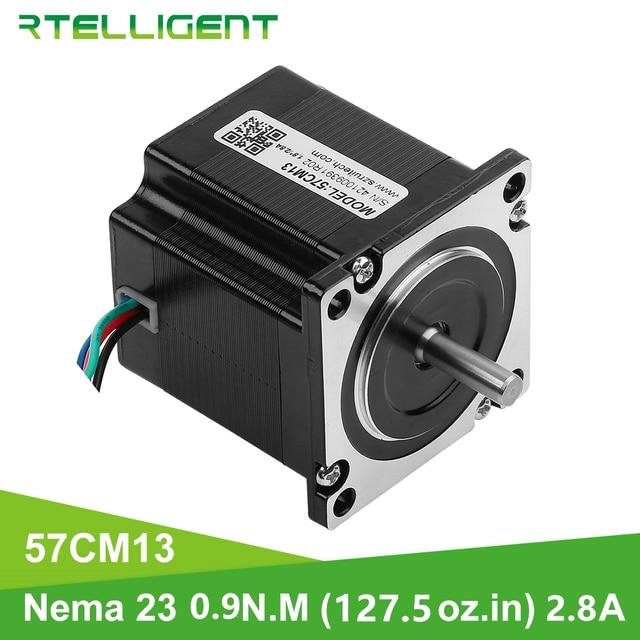 Rtelligent NEMA 23 Stepper Motor 57 มม.6.35 มม.DIA หน้าแปลน 0.9N.M 9NCM 9kgf.ซม.