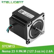 Rtelligent nema 23 motor deslizante 57mm 6.35mm diâmetro flange 0.9n. m 9ncm 9kgf.cm
