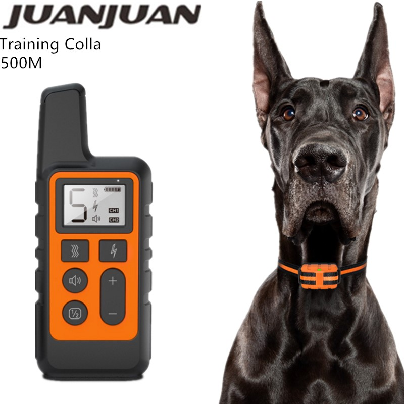 500M Dog Training Collar Pet Electric Remote Control Collar Waterproof Rechargeable Dog Training Tool with LCD Display 30%off Training Collars    - AliExpress