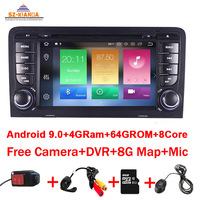4GB RAM 64GB ROM 8Core Android 10.0 CAR DVD GPS For Audi A3 8P 2003 2012 S3 2006 2012 RS3 Sportback multimedia player stereo