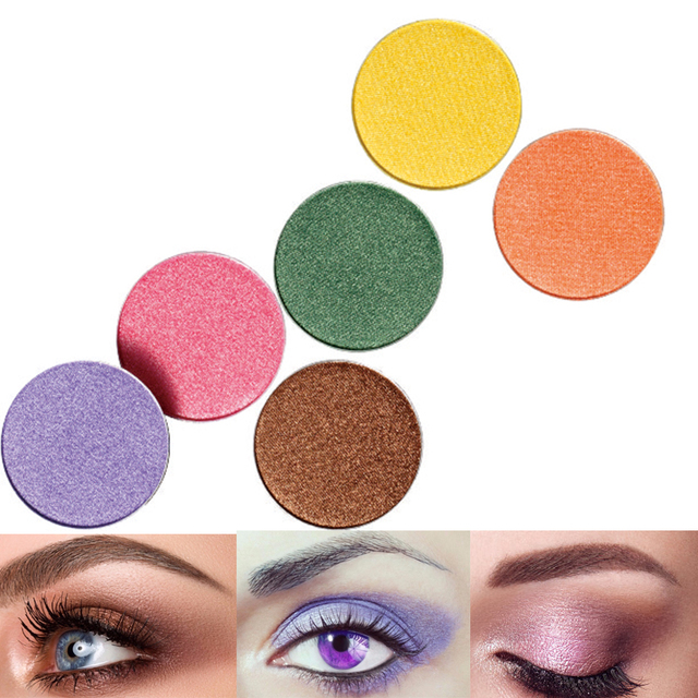 Color Salon Yellow coral Matte  Glitter Eyeshadow Powder Shimmering Colors Eye Shadow Palette Metallic Eye Makeup Cosmetic 2