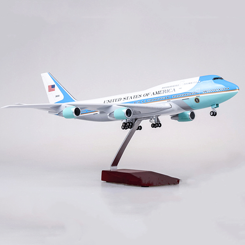 47CM 1:150 Scale Airplanes American Air Force One Boeing B747 Model resin Diecast Aircraft Plane Model Collectible display Gifts image