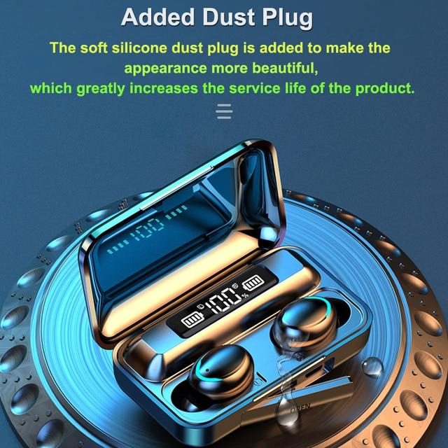 F9 TWS bezprzewodowe słuchawki Bluetooth 5.0 F9 TWS Bluetooth słuchawki wsparcie Xiaomi / iPhone z 2200mah power bank 9D Stereo