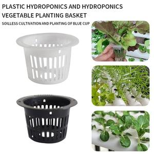 Set of 10 Garden Slotted Mesh Net Cups Net Pots Basket for Hydroponics Mesh Aeroponic Hydroponic Basket Garden Plant