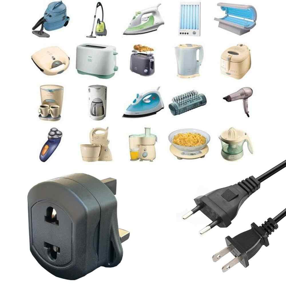 Штепсельная вилка Великобритании в ЕС, Международный Электрический адаптер, дорожная розетка, адаптация, зарядное устройство переменного тока, конвертер, плавленый 13А 3250 Вт, 2-контактная изоляция