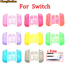 1x Clear Plastic Replacement Repair Kit DIY Case Cover Housing Shell for Switch Joy Con Controller Screws Screwdriver Open Tools