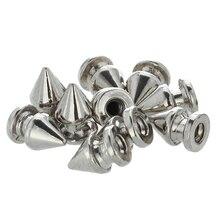 10x copper 8 * 12mm rivets Silver Pointed Studs Punk Rivets screw