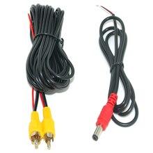 6-20 м RCA видео кабель с силовой линией для парковки автомобиля заднего вида Камера подключения автомобиля монитор DVD триггер кабель опционально