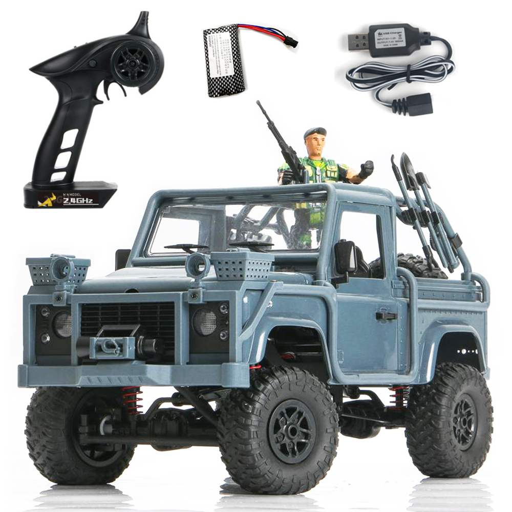 MN Model MN96 1/12 2.4G 4WD Proportional Control Rc Car with LED <font><b>Light</b></font> Climbing Off-Road <font><b>Truck</b></font> RTR Outdoor Indoor Toys image