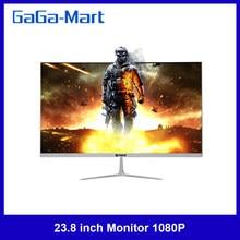 23.8 calowy Monitor 1080P IPS zakrzywiony ekran Monitor 178 ° kąt widzenia Monitor do komputera z interfejsem VGA/HD ue wtyczka