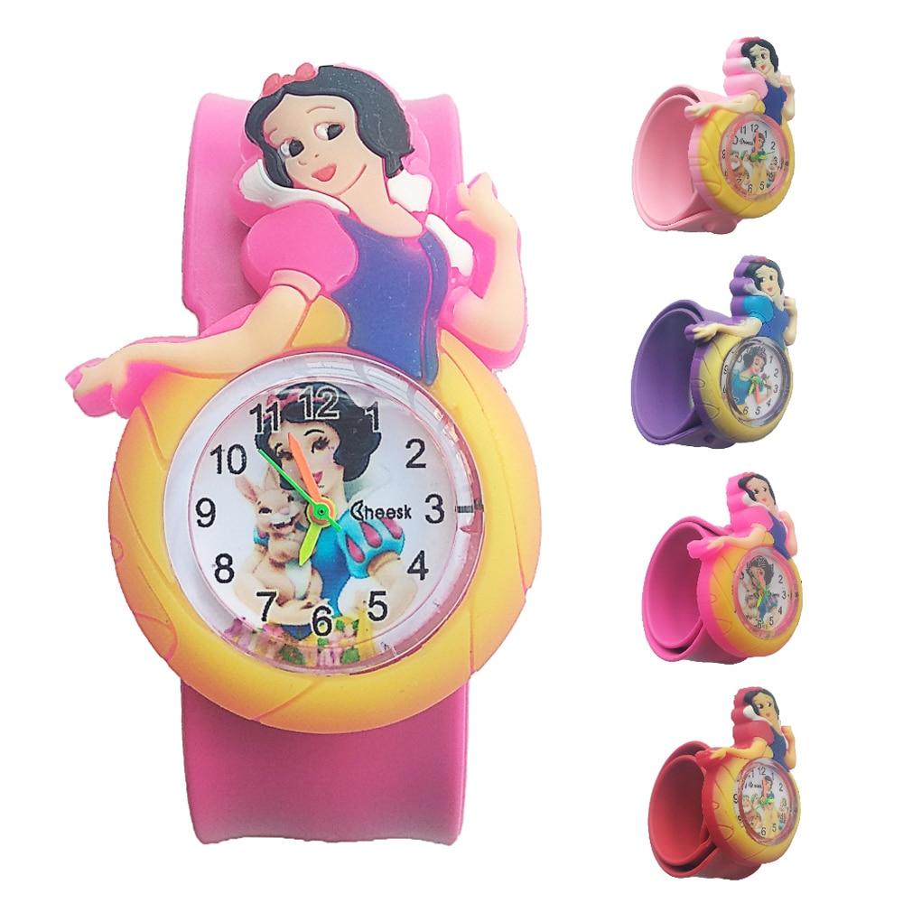 Relogio Infantil Girl Princess Kids Watches Rubber Quartz Children's Watch For Girls Boys Clock Christmas Gift For Child Baby