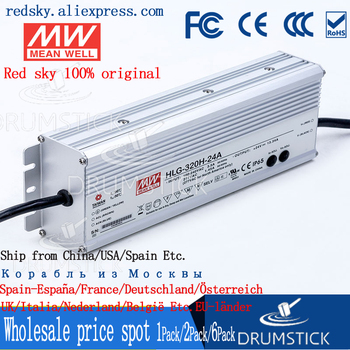 (Only 11.11)MEAN WELL HLG-320H-24A (1Pcs) 24V 13.34A meanwell HLG-320H 320.16W Single Output LED Driver Power Supply A type