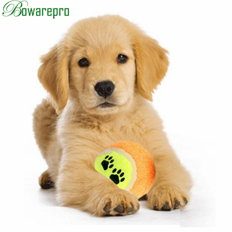 6PCS Tennis Ball For Dog Chew Toy Pet Interactive Toys Supplies Outdoor Cricket