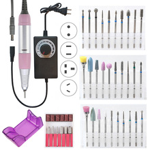 35000 RPM Electric Nail Drill Machine Manicure Pedicure Gel Remover Strong Nail File Milling Cutters Tools Nail Drill Bits Set electric nail drill machine 25000 rpm 25w nail file drill machine manicure pedicure drill polish bits tools kits