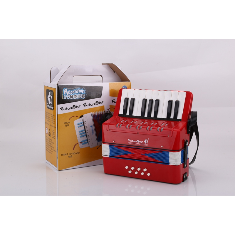 Accordion childrens Future Star FF-17K-RD RED