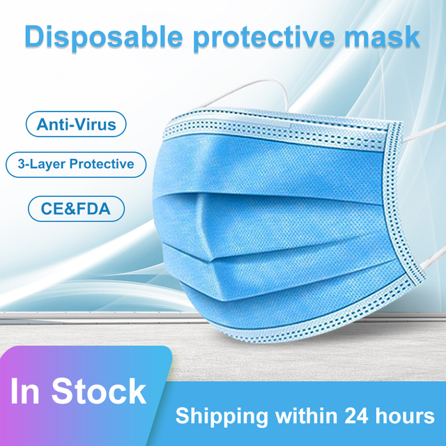 3-layer mouth-muffle disposable masks Anti-virus mask dustproof anti-flu civilian protective masks in stock disposable face mask