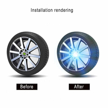 Hub Light wheel center hub sticker Car Floating Illumination Wheel Caps LED Center Cover Lighting Cap For BMW Benz Lexus