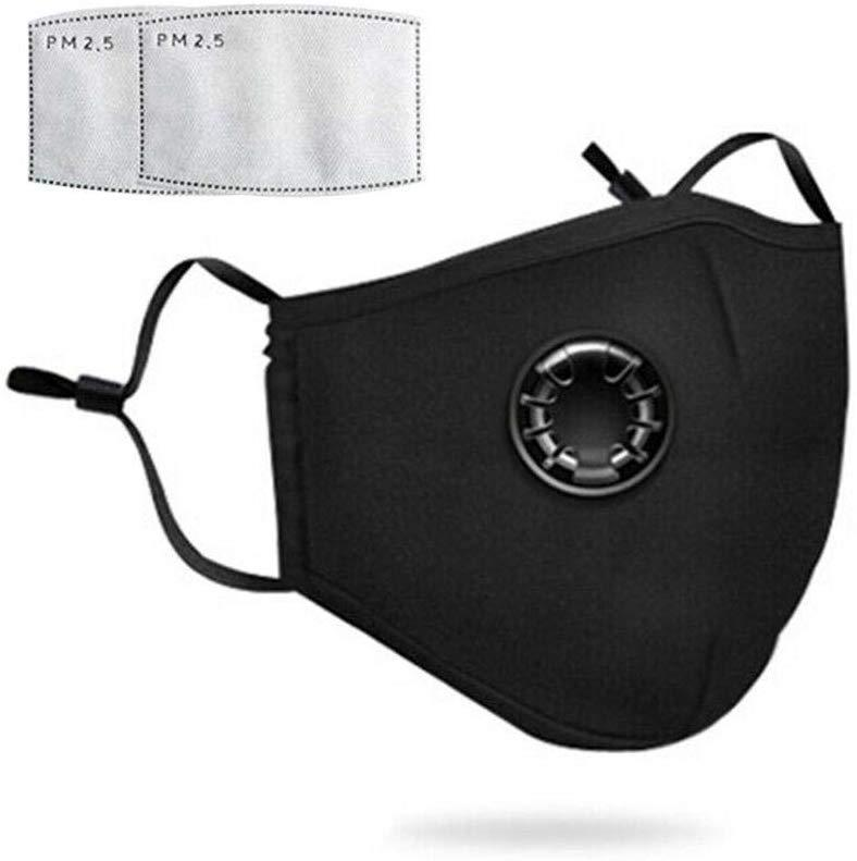 PM2.5 Mouth Mask Dust Respirator Washable Reusable Masks Cotton Unisex Mouth Muffle Anti-fog Riding Sun Activated Carbon
