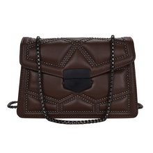 Chain Strap Shoulder Bag for Women Quality Leather Casual Female Flap B