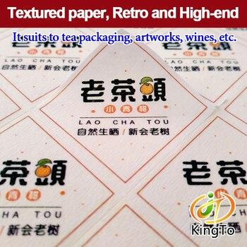 Die cut textured paper adhesive sticker