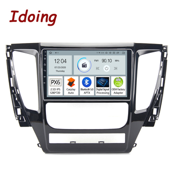 Idoing 9PX6 Android 10 Car Radio Multimedia Player ForMitsubishi Pajero Sport 3 2016 2017 2018 GPS Navigation Bluetooth 5.0 image