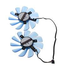 2 pces FDC10U12S9-C 85mm 12v 0.45a 4 fio 4pin vga ventilador substituir placa gráfica ventilador de refrigeração para seu rx 470 rx474 rx570 cooler fãs c26
