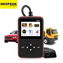 자동차 트럭 OBD2 스캐너 헤비 듀티 트럭 진단 코드 리더 자동 스캐너 트럭 ABS DPF 오일 라이트 재설정 자동 진단 도구