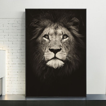 Large Lion Head Wall Art Canvas Posters And Prints Black And White Animals Art Paintings on the Wall Decor Pictures Cuadros african large lions face canvas paintings on the wall art posters and prints animals lions art pictures for living room cuadros