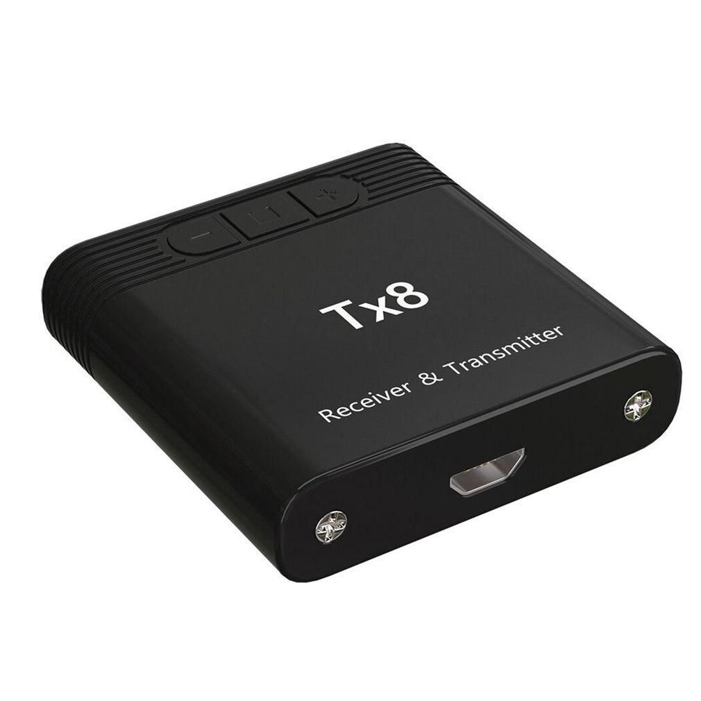 TX8 ТВ Портативный адаптер дальний музыкальный передатчик приемник для дома BT 5,0 для компьютера аудио передатчик - Цвет: Черный