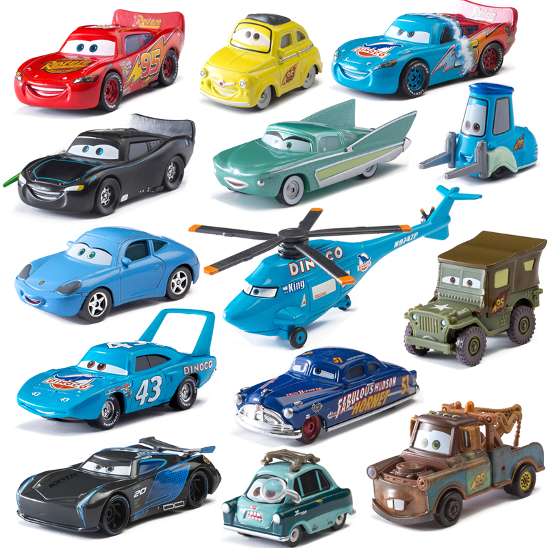 Disney Pixar Cars 2 3 Lightning McQueen Jackson Storm Mater Sally  The King 1:55 Diecast Metal Alloy Model Cars Kid Gift Boy Toy