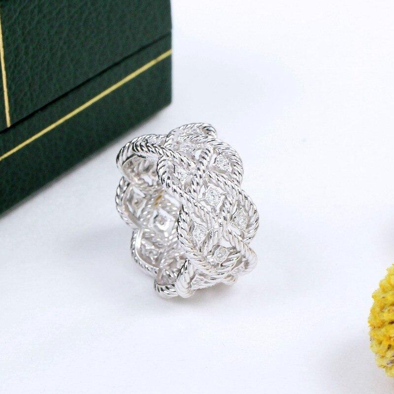 CMajor S925 bijoux en argent Sterling Vintage Court de luxe zircon cubique anneaux pour les femmes livraison gratuite