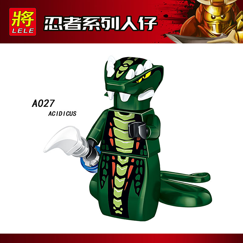 Single Sale Compatible LegoINGlys Ninja Figure SKALES ACIDICUS  PYTHOR SKALIDOR BYTA Bricks Blocks Action Toys Children Gifts