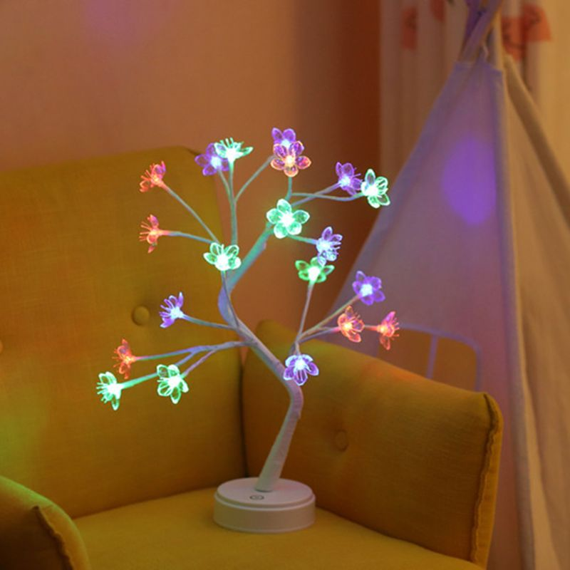 USB Simulation Tree Desk Lamp Creative Star Snowflake Heart Blossom Holiday Home High Quality And Brand New
