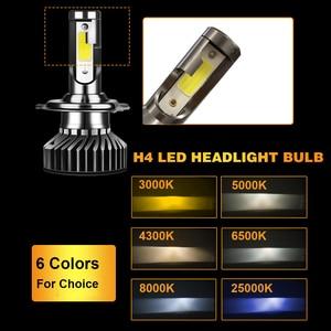 Image 3 - YHKOMS tamaño Mini linterna del coche de H4 H7 LED 3000K 4300K 5000K 6500K 8000K 25000K H1 H8 H9 H11 9005 9006 bombilla LED Luz de niebla Auto 12V 12V
