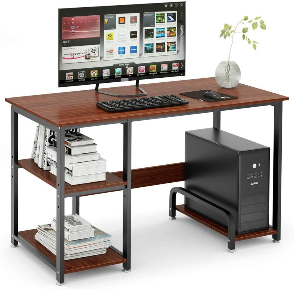 """DEWEL 47"""" Office Desk Computer Desk With Storage Shelf Gaming Desk Home Office Desk With Hutch Workstation Space"""