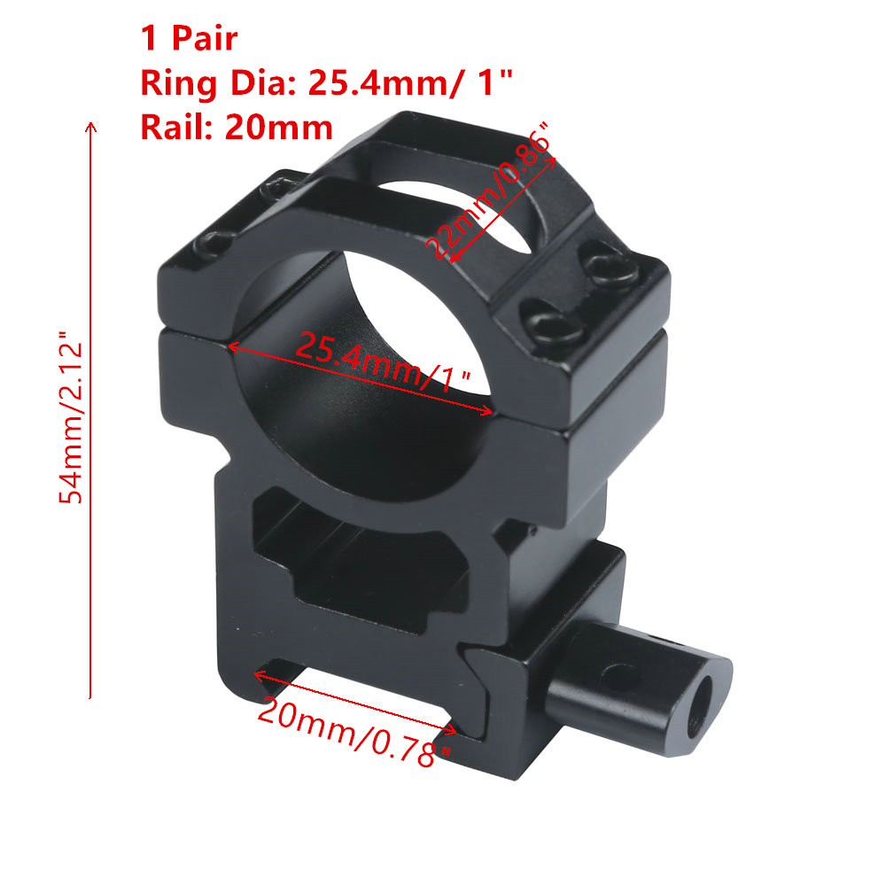 MIZUGIWA 1 Pair Scope Mount 25.4mm 1