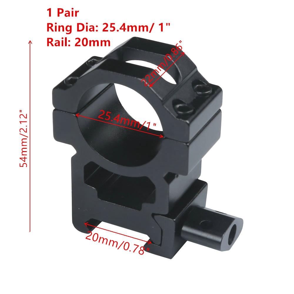 MIZUGIWA 1 Pair Scope Mount 25.4mm 1